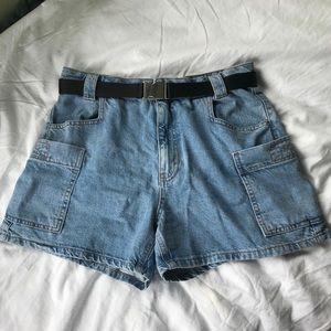 Topshop vintage style cargo mom shorts